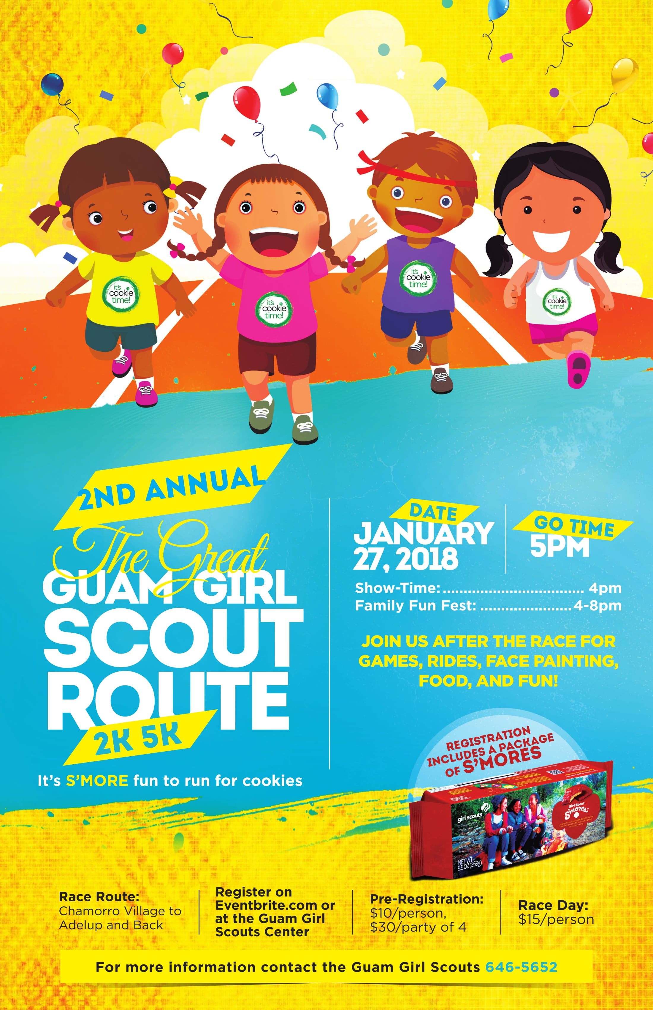 Great Guam Girl Scout Route 2K/5K Help - Guam Service Learning ...